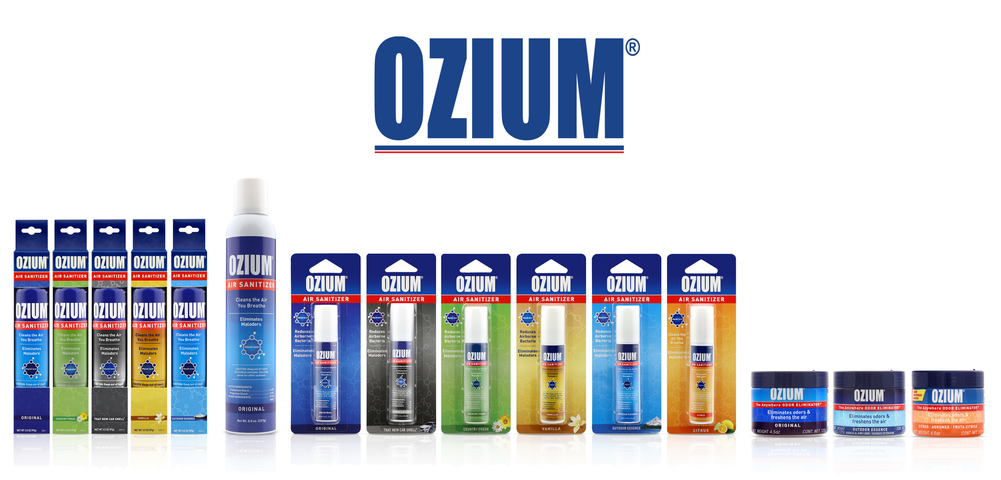 OZIUM® Air Care from APF fights airborne germs and eliminates odors.